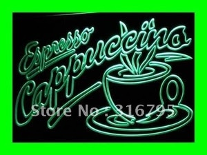 i220 OPEN Espresso Cappuccino Coffee Cafe Light Signss On/Off Switch 20+ Colors 5 Sizes