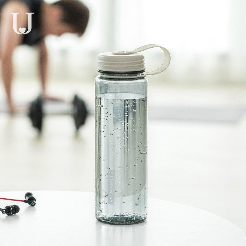 Taza de mano Youpin Jordan & Judy de 370/550 ml, bonita taza de estudiante portátil resistente, taza deportiva con asa de aislamiento antideslizante, taza para té y café