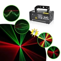 remote 200mw rgy laser stage lighting 8 ch dmx 512 pro scanner dj party ktv show projector equipment light