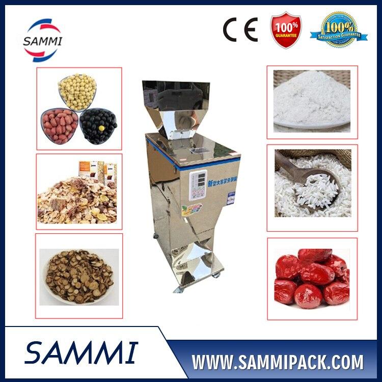 Grano vertical/semillas/maní máquina de llenado de pesaje con alimentador de la tolva