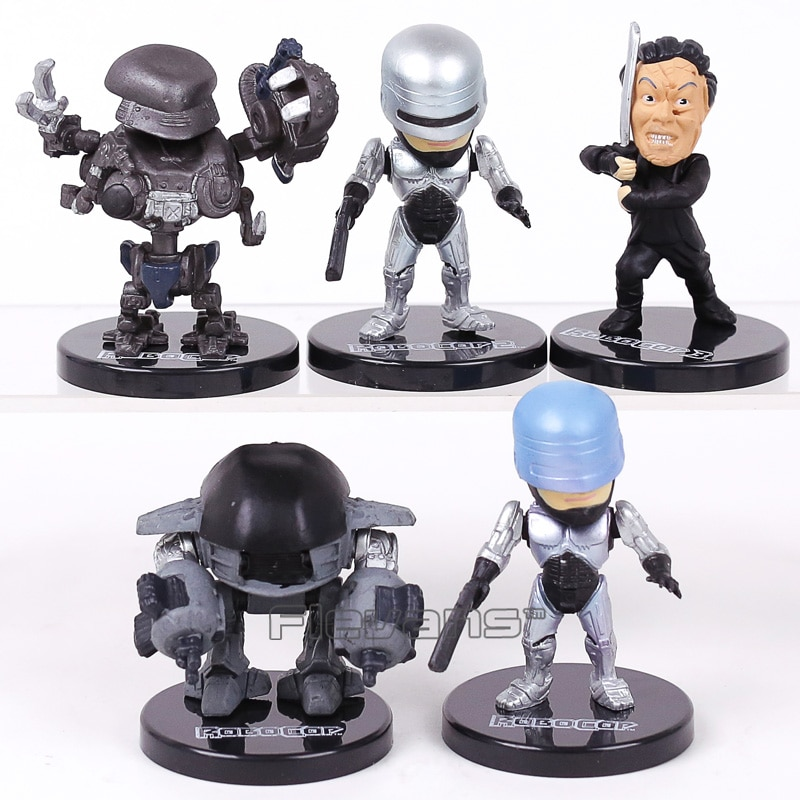 Mini figuras de acción de PVC de película RoboCop juguetes coleccionables modelo 5 unids/set