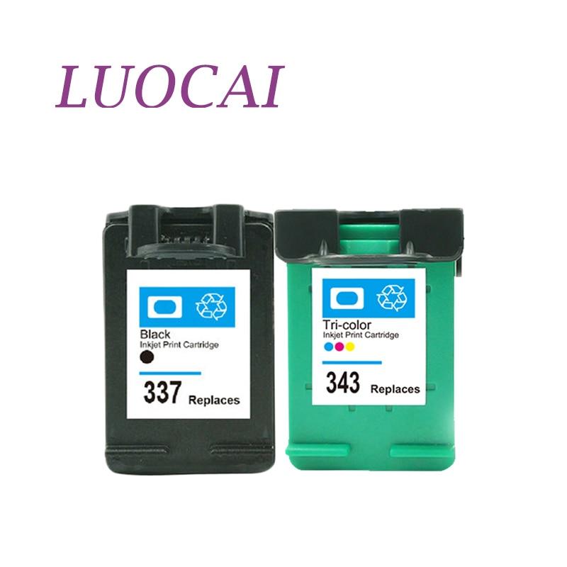 LuoCai cartucho de tinta Compatible 337 para HP337 para HP343 Deskjet serie 6940 D4160 Photosmart C4180 2575 8050 D5160 6830, 6840, 6940, 6980