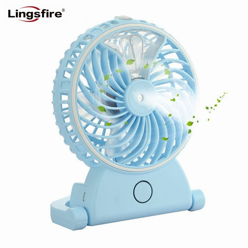 Portable Desktop Humidifier Fans Mini Handheld USB Rechargeable Cooling Misting Fan Personal Air Conditioner