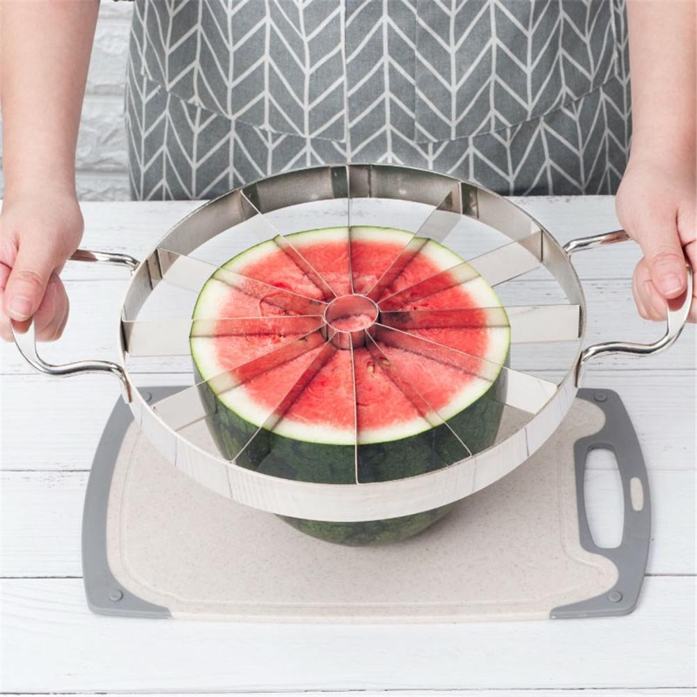 De acero inoxidable de la fruta cortador de melón y Sandia de cocina herramienta de corte