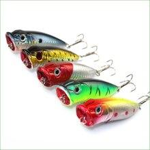 L004B Mix  5pcs/set 13g 65mm Fishing  Poper Wobblers Topwater Floating Popper Lures Hooks Carp Fishing Gear Crankbaits