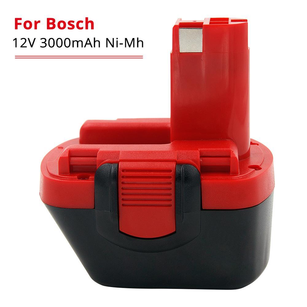3000mAh Ni-Mh 12 V Bohrer Akku für Bosch 12 V BAT043 BAT045 BAT046 BTA120 BAT139 GSR 12 VE-2 PSR 12VE-2