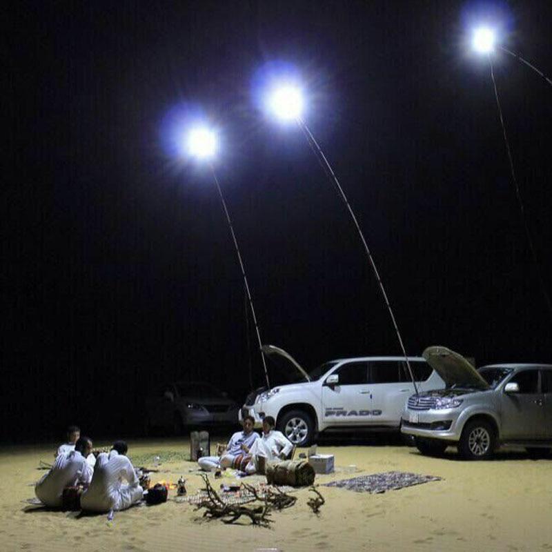 48W 96W 12VDC telescópico LED poste de pesca Camping luz farolas LED