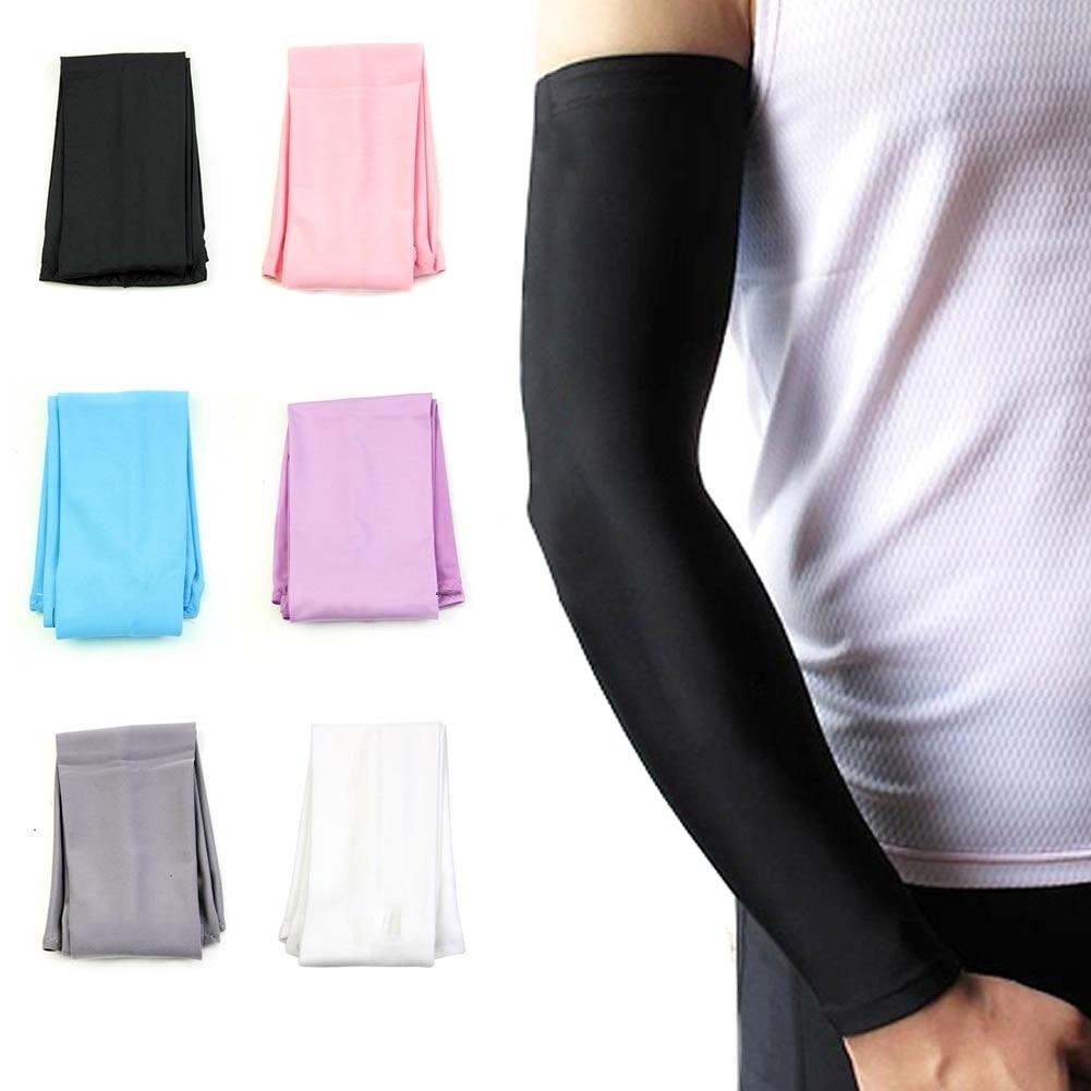 Newly Fashion 1 Pair Sun UV Block Arm Sleeves Cool Warmer Cover for Outdoor Cycling Golf Fishing Climbing YA88