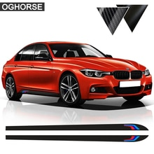 Für BMW F30 F31 X5 F15 X6 F16 E60 F32 F34 F22 E90 F10 F11 F01 F02 G30 Z4 E89 f20 M Leistung Seite Streifen Rock Aufkleber Aufkleber
