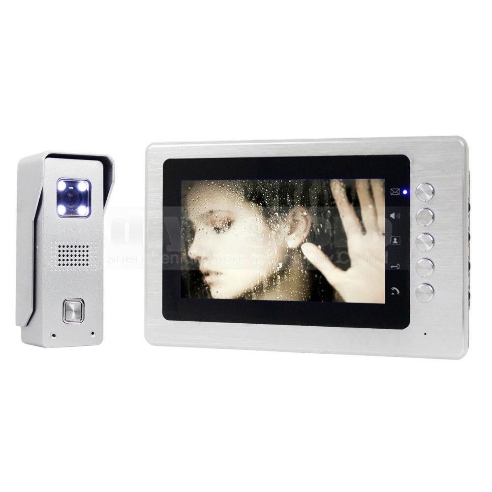 DIYSECUR 7 &quotTFT ЖК Монитор Цвет Видео Домофонные Дверной звонок Камеры Дома