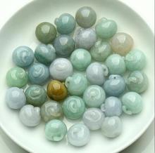 Naturel a cargo jade perle jade pendentif bracelet main petite pomme 13mm série voiture suspendus accessoires matériaux bricolage