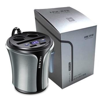 HSC108D Многофункциональный 12-24 в 100 Вт + 40 Вт автомобильный прикуриватель двойной USB зарядка для мобильного телефона планшета ПК батарея тестер...