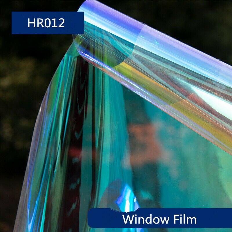 1.37x2 0 m/54x66ft decorativo autoadhesivo película de ventana colorido vidrio camaleón tinte gradiente Pravicy Sticker