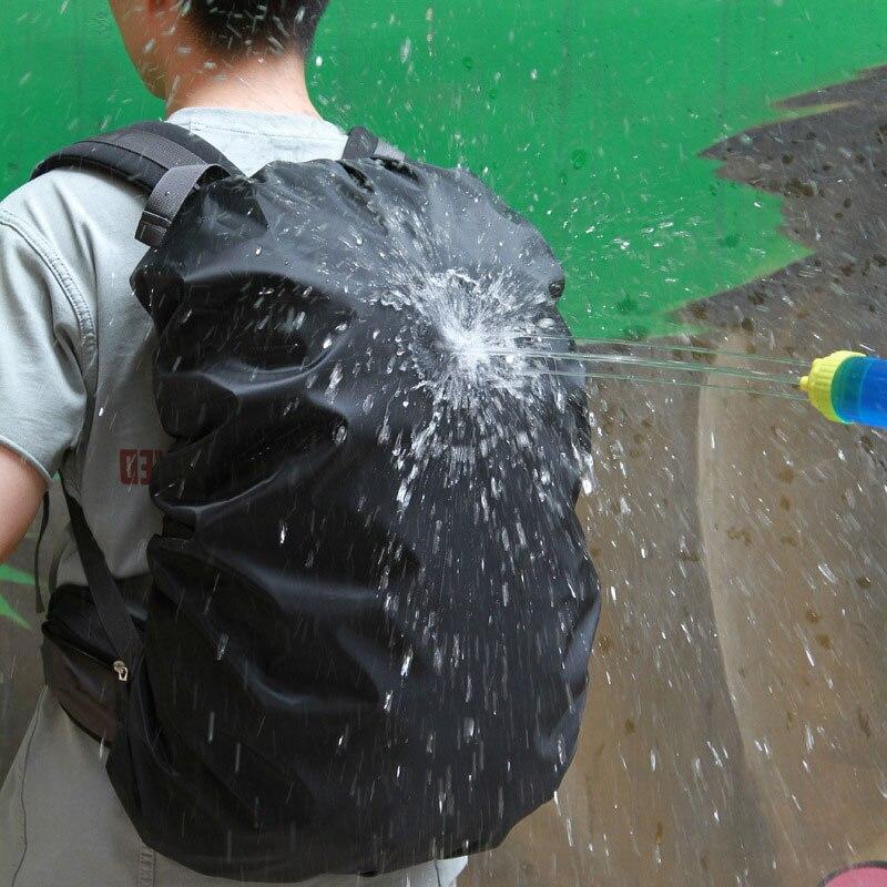 Portátil 35L 45L 60L ajustable impermeable mochila resistente al polvo cubierta de lluvia proteger el hombro bolsa caso para Camping al aire libre senderismo