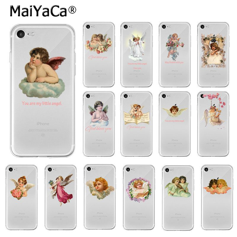 MaiYaCa Vintage Ölgemälde Blume Fee engel TPU Weichen Telefon Fall Abdeckung für iPhone 6S 6plus 7 7plus 8 8Plus X Xs MAX 5 5S XR