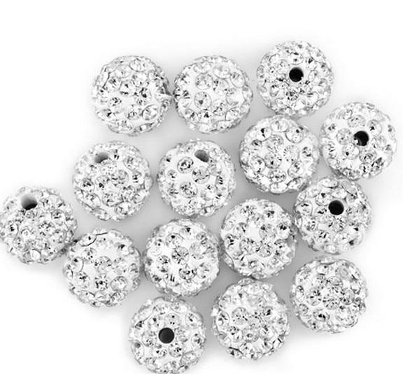 6mm 8mm 10mm 12mm 14mm 100 unids/lote blanco cam elegir tamaño cristal brazalete con cuentas de cristal collar caliente precio de fábrica nuevo