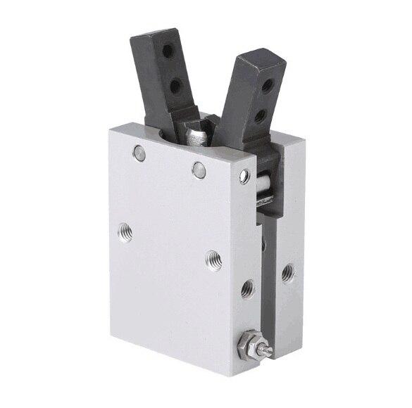 SMC tipo cilindro de dedo neumático doble acción pinza de aire estilo angular fulcrum de apertura y cierre tipo MHC2-10D, 16D, 20D, 25D