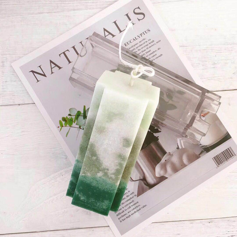 DIY molde vela molde de acrílico transparente Aromaterapia vela da coluna quadrada molde projeto transversal de Parafina vela mould