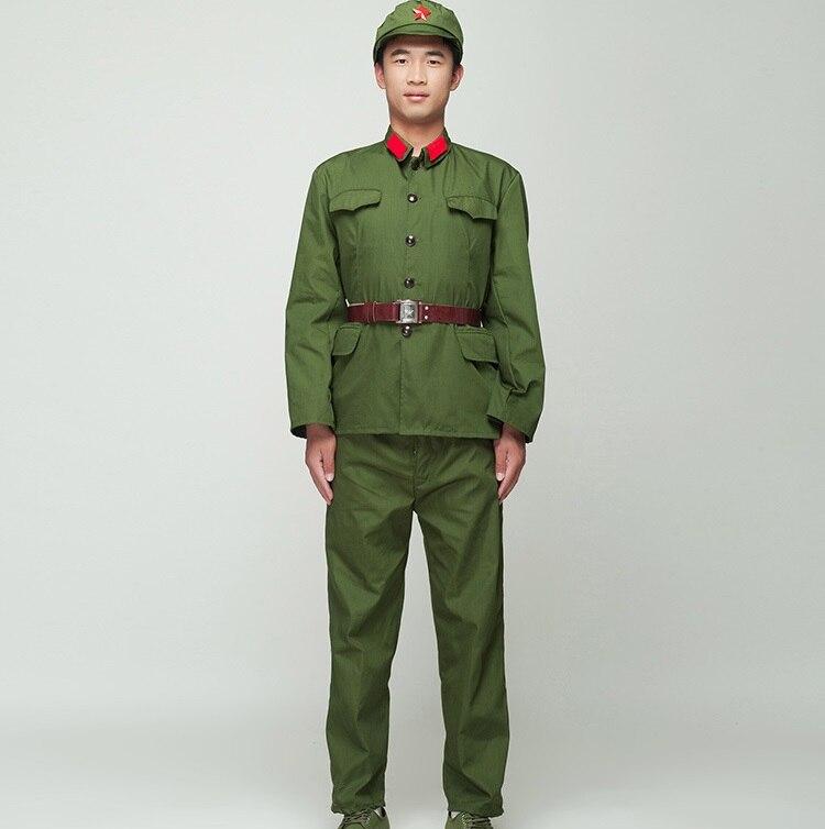 Северо-корейский солдат, Униформа, красная гвардия, зеленый костюм для выступлений, сценический фильм, телевидение, восемь поездок, армейск...