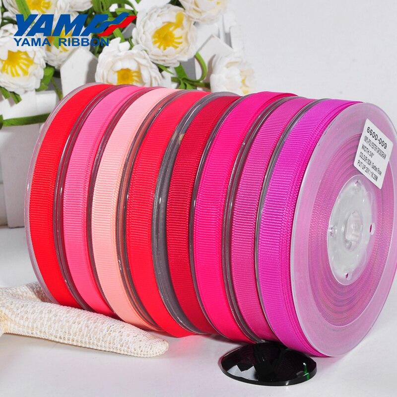Cinta de grogrén YAMA 6 9 13 16 19 22 mm 100 yards/lot rojo rosa al por mayor para Diy accesorios de vestir casa decoración de boda