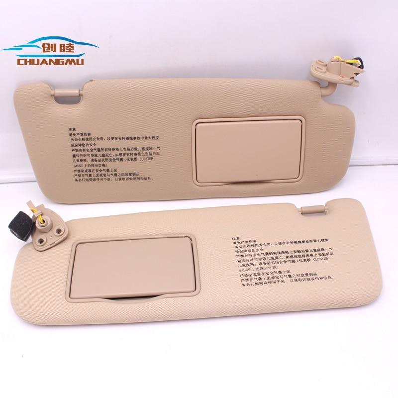 CHUANGMU para HYUNDAI sonata NF NFC conjunto visera parasol Beige 85201-0R300V2 85202-0R300V2