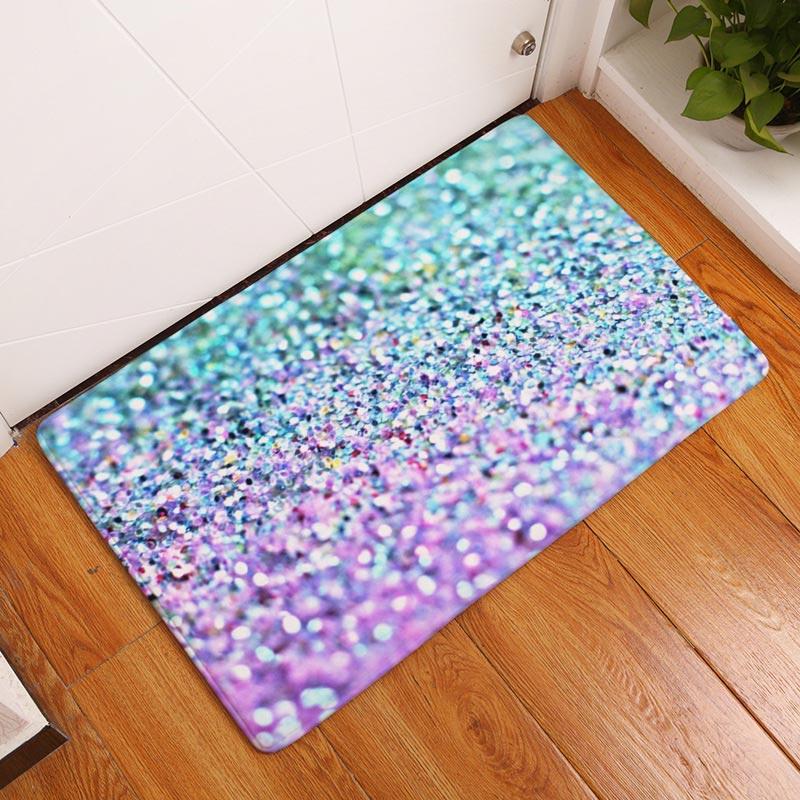 2017 Modern Paillette Style Printings Carpets Anti-Slip Floor Mat Outdoor Rugs For  Living Room Front Door Mats Non-slip Doormat