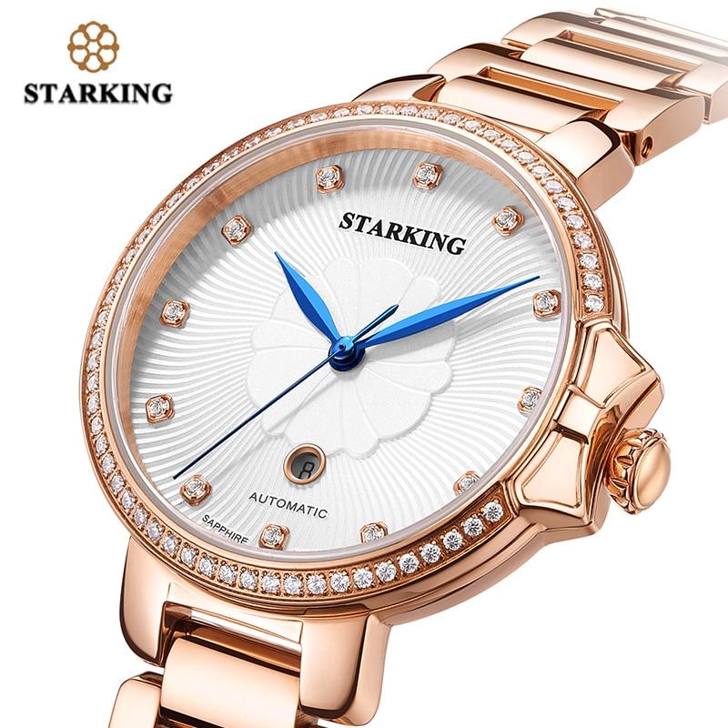 STARKING Luxury Jewelry Women Watches Sapphire Waterproof 5ATM Japan Miyota Movt Automatic Mechanical Wristwatches AL0267 enlarge