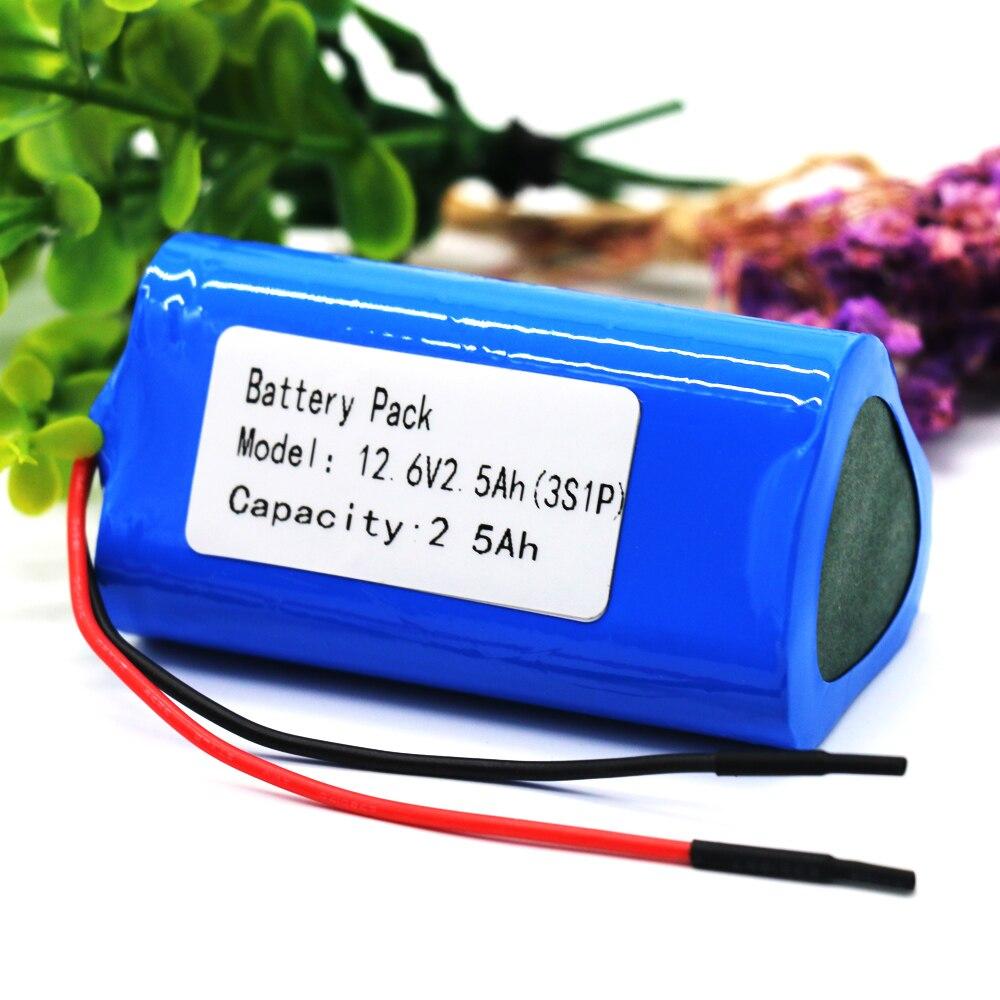 KLUOSI 12V Battery  3S1P 12.6V/11.1V  2500mAh 18650 Lithium-ion Battery Pack with 5A BMS for Backup Power Ups CCTV Camerar