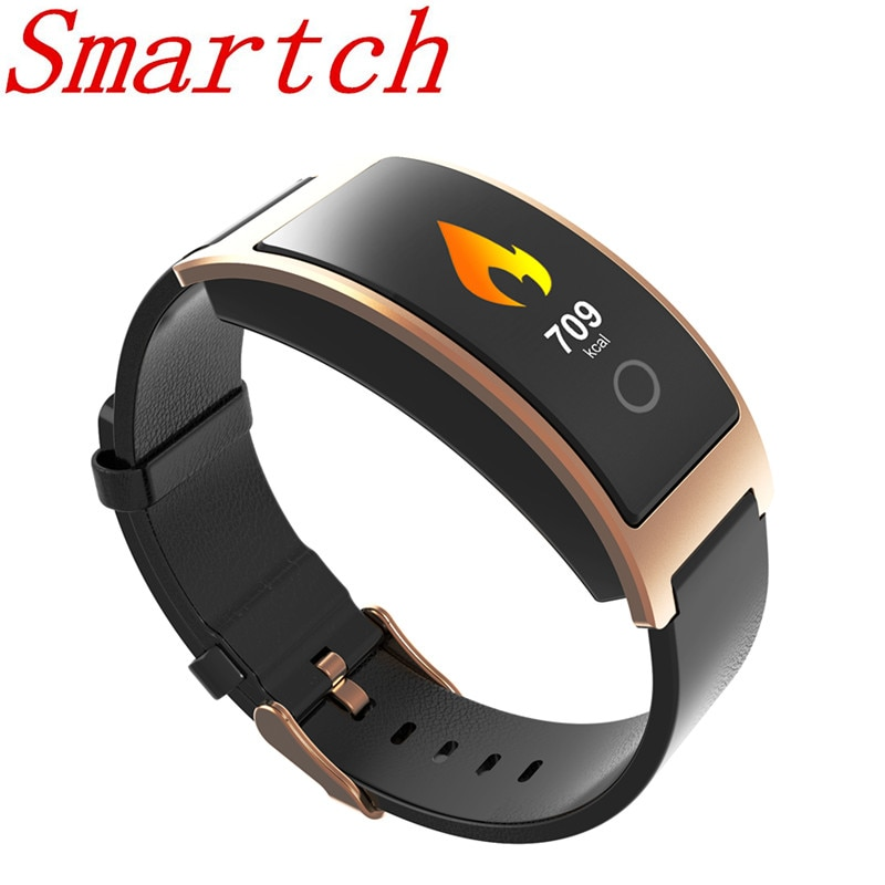 Smartch CK11C pantalla OLED de Color pulsera inteligente Monitor de ritmo cardíaco podómetro pulsera inteligente reloj Fitness sangre impermeable IP67