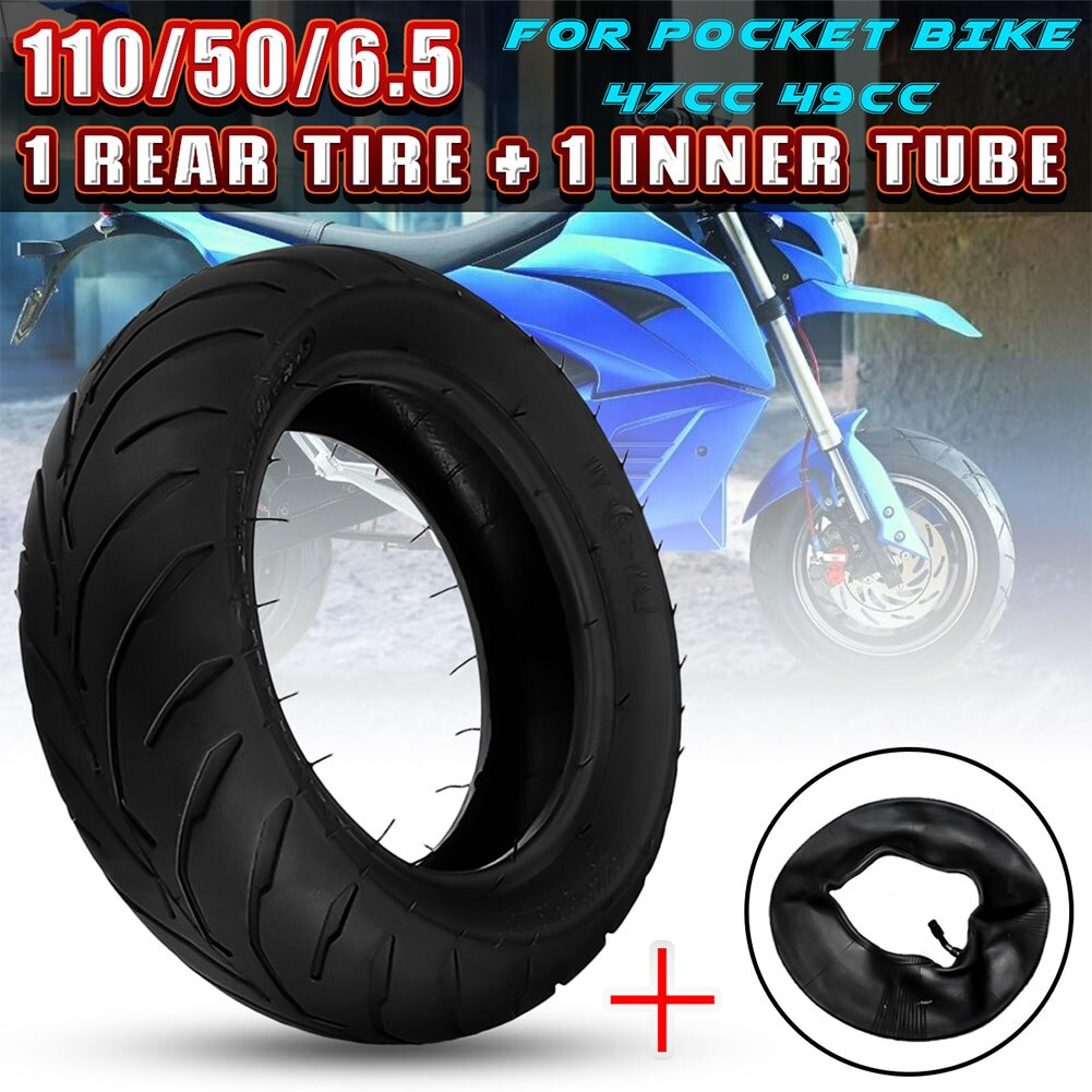 Neumático trasero delantero + tubo interior 90/65/6.5 110/50/6.5 para Mini bicicleta de bolsillo 47cc 49cc NJ88