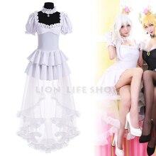 Bowsette Booette princesse Teresa roi Boo blanc longue robe Sexy Costume Cosplay