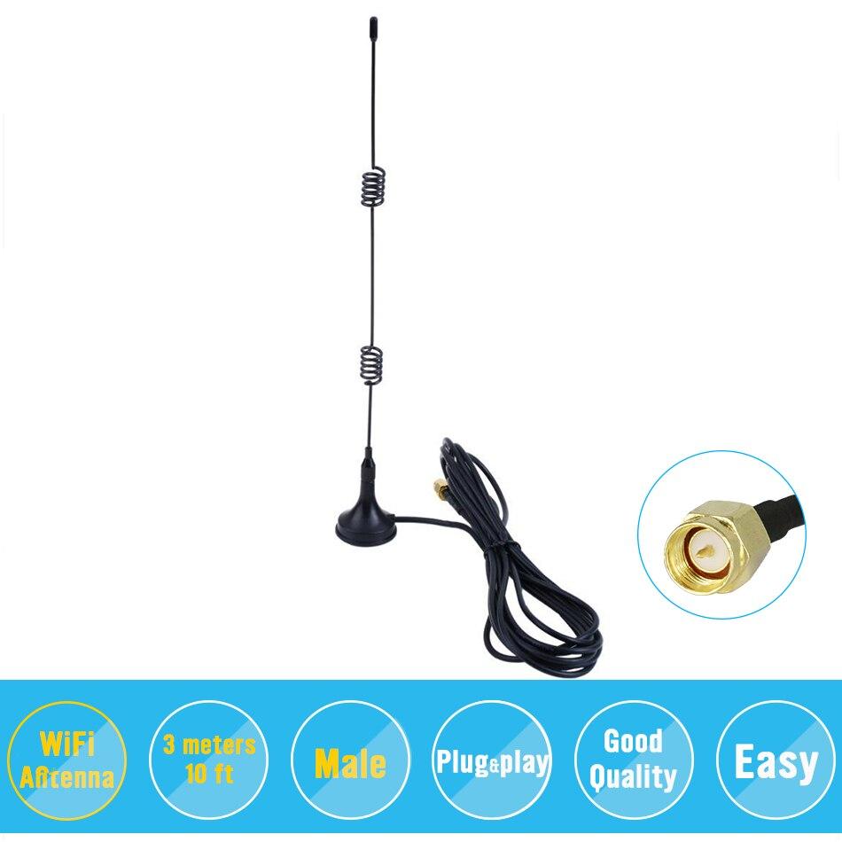 2,4 ГГц 9DBI беспроводной Wifi WLAN 5 x усилитель диапазона Антенна удлинитель + база
