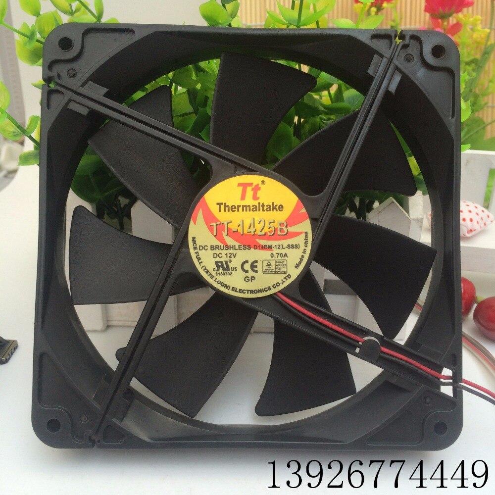 Вентилятор для EVERFLOW Thermaltake TT TT-1425B 14 см TT-1425 14025 бесшумный вентилятор охлаждения A1425L12S 12В 0.3A