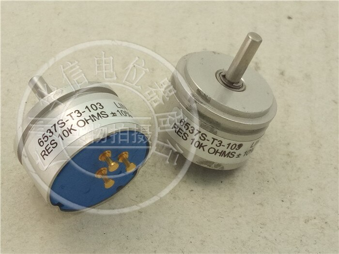 [VK] Stock BOURNS 6537S-T3-103 10K plástico conductor potenciómetro Servo montaje eje 3,2 MM interruptor