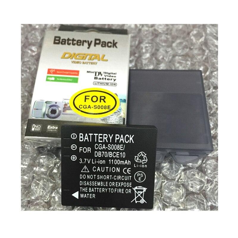 CGA S008 CGA-S008E S008E DMW-BCE10 baterias de lítio para câmera Digital Bateria Para PANASONIC FX30 FX35 FX33 FX55 FX500 FS5 FS3 FX12