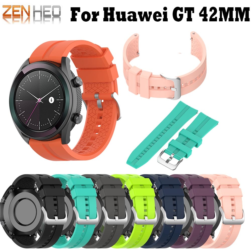 Banda de reloj inteligente de 20mm para Huawei Watch GT 42mm correa de silicona brazalete deportivo para Garmin Forerunner 245/645 muñeca correas