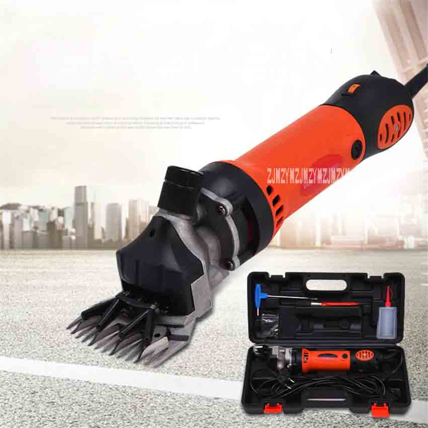 Tesoura de lã Novo Velocidade Ajustável Máquina Tosquiadeira Elétrica Corte Handheld Pet Sheeping lã Cortador 220v 750w 2400rpm Kwn-76