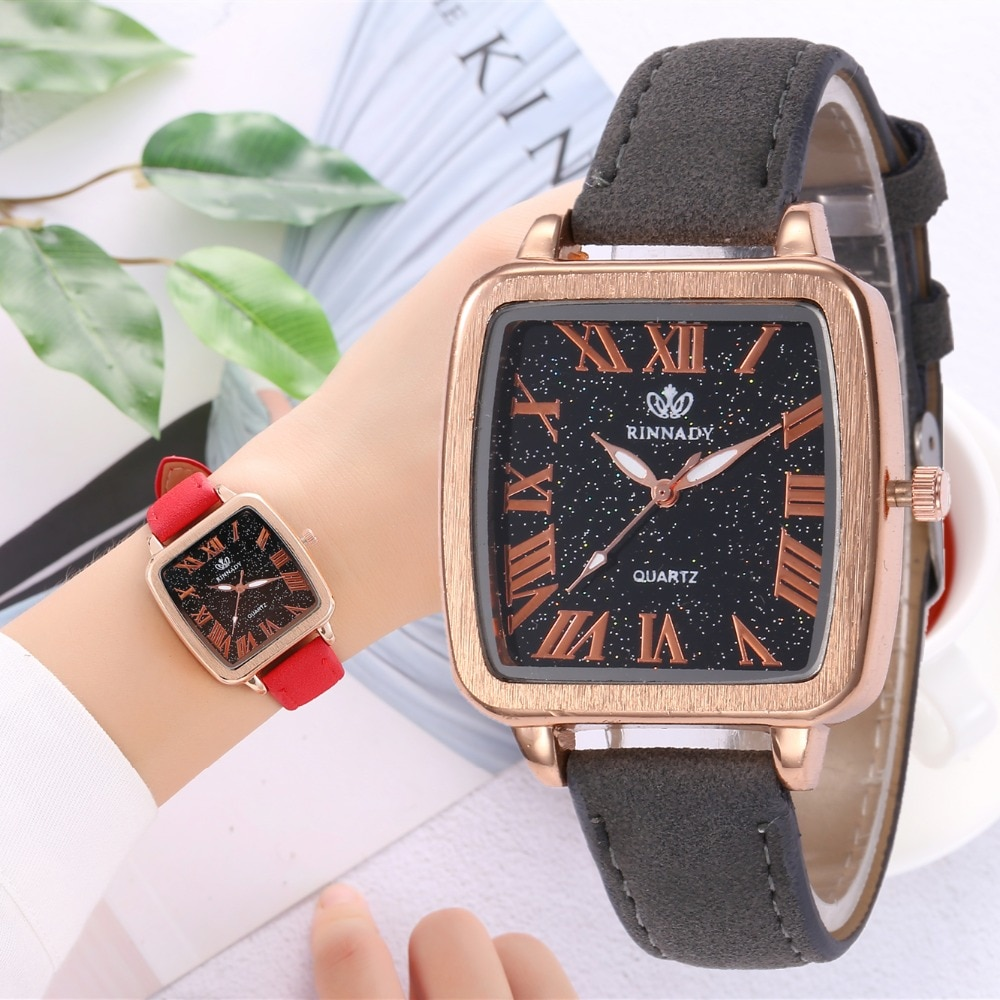zegarek damski Fashion Women's Watches Top Brand Luxury Roman scale Ladies Watch Women Watches Leather Quartz Clock reloj mujer