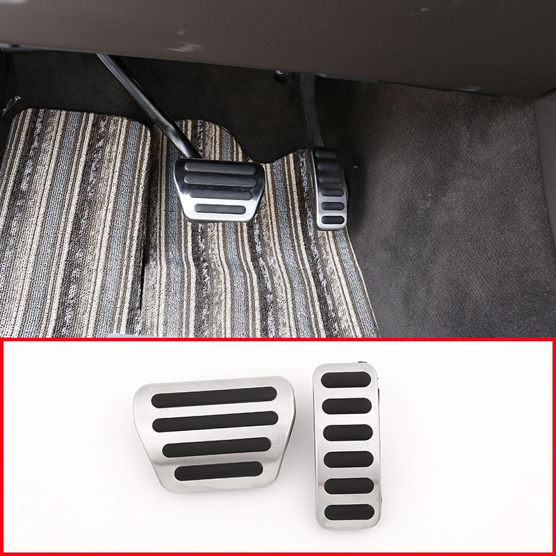 Plaquettes en acier antidérapantes   Pour Land Rover Discovery 5 LR5 L462, Anti-perceuse, frein de carburant, pédales couverture pour Range Rover Sport Vogue 2014-2018