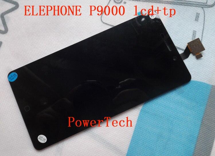 Elephone-لوحة أمامية للهاتف المحمول P9000 ، شاشة لمس زجاجية ، محول رقمي مع شاشة LCD ، هاتف خلوي p9000