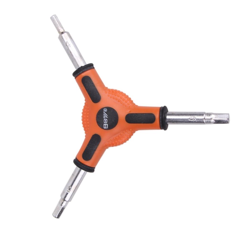 Mini Herramienta de bolsillo multifunción Red Bike ciclismo 3 vías (tipo Y) hexagonal Allen llave herramientas tamaño 4 5 6mm