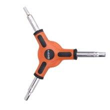 Multi-fonction Mini outil de poche vélo rouge vélo vélo 3 voies (Type Y) Hex Allen clé outils taille 4 5 6mm