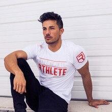 BIAOLUN Neue Aufstieg Bodybuilding und Fitness Herren Kurzarm T-shirt Hemd Männer Muscle Strumpfhosen Gasp Fitness T-Shirts