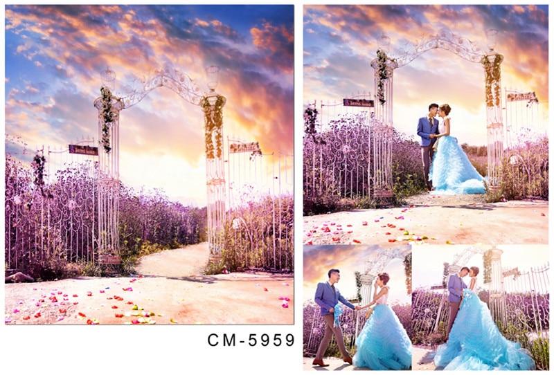 Fondos fotográficos para estudio 5x7 lavanda mar Campo Cielo colorido para sesiones de fotos de boda fondos fotográficos personalizados