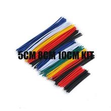 130PC 24AWG Cable de puente de placa de pruebas cables Kit de estañado doble enlatado componente Paquete de 13 tipos 10 Uds cada 5CM 8CM 10CM