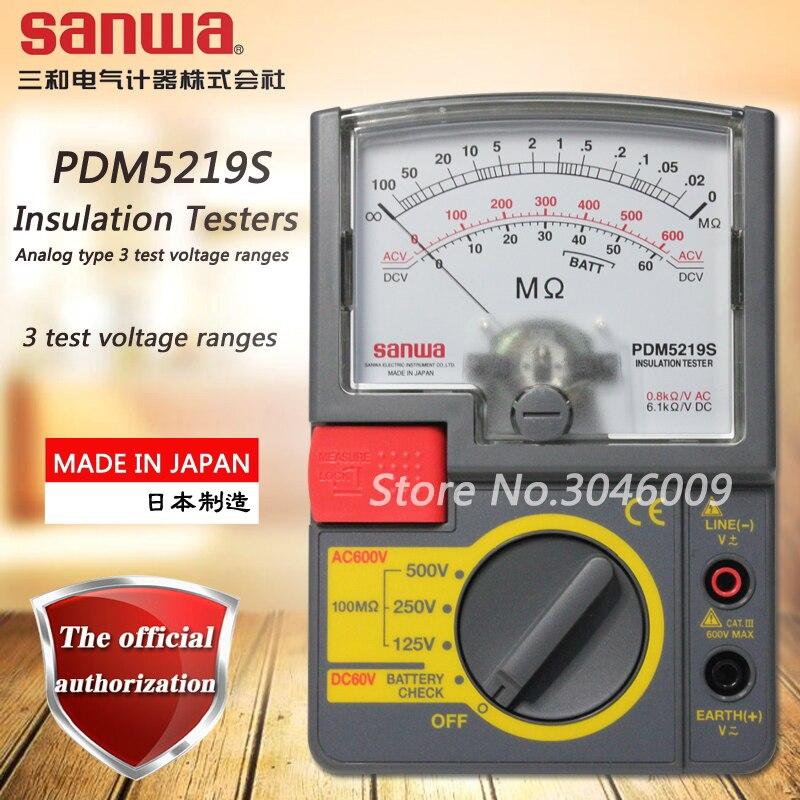 Тесты изоляции Sanwa PDM5219S Мегомметр аналогового типа испытательное напряжение