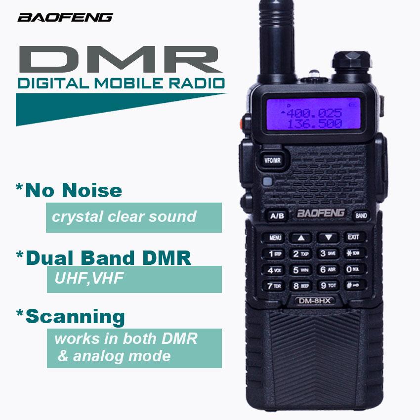 Портативная рация DMR DM-5R Plus, цифровая рация Baofeng DMR, 128 каналов, Любительский Профессиональный радиоприемник VHF/UHF tyt DM-8HX DM5R