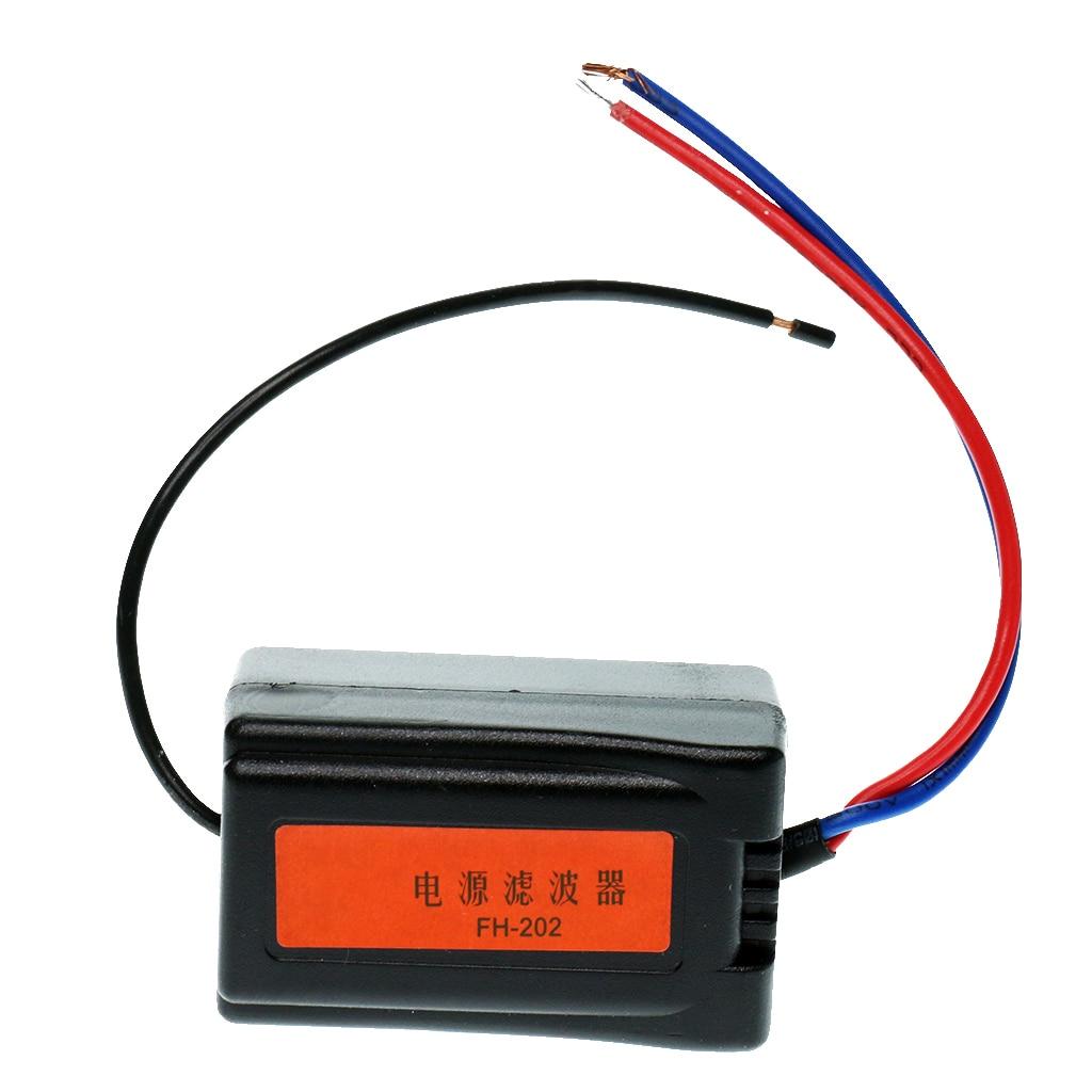 DC 12V Car Radio Audio Pre-wired Noise Filter System Ground Loop Isolator Filtro de audio de aislado