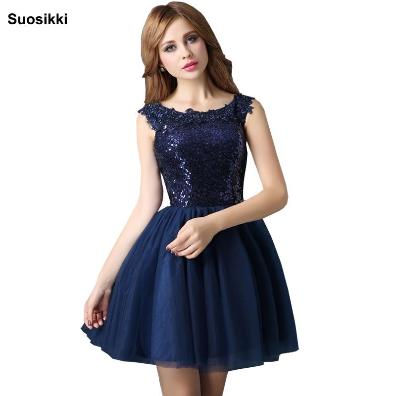 فستان كوكتيل مطرزة باللون الأزرق ، فستان سهرة أنيق ، قصير ، طويل ، أزرق
