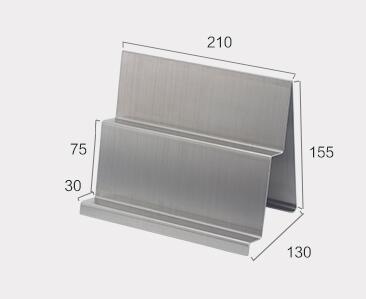 Soporte de cartera de 2 capas Metal armario monedero pantalla Rack para mesa escritorio monedero pantalla Rack gafas soporte de almacenamiento soporte